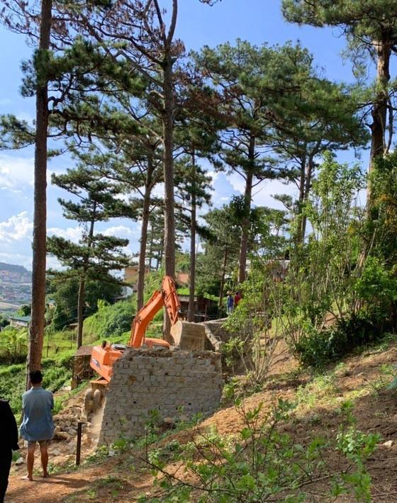 Giải toả nhiều công trình trái phép dưới tán rừng thông ở Đà Lạt ảnh 2