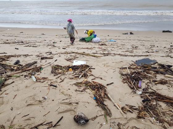 """Biển Nha Trang """"ngập"""" rác sau mưa lũ ảnh 4"""
