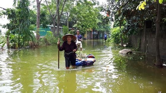 """Hà Nội xuất hiện """"con đường trên biển nước"""" ảnh 10"""