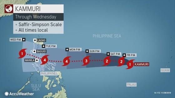 'Siêu bão' Kammuri tiến vào biển Đông sau khi càn quét Philippines ảnh 2