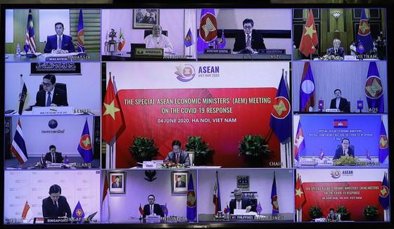 Việt Nam chủ trì hội nghị bộ trưởng kinh tế ASEAN đặc biệt về ứng phó đại dịch Covid-19 ảnh 3