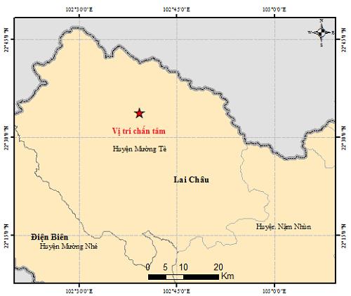Động đất 4,9 richter tại huyện Mường Tè, tỉnh Lai Châu  ảnh 1