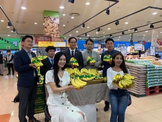 Chuối Việt Nam được bán trong siêu thị Lotte Mart tại Hàn Quốc ảnh 1