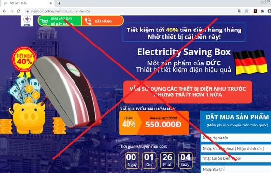 """Sử dụng logo """"EVN"""" để bán """"thiết bị tiết kiệm điện"""" ảnh 1"""
