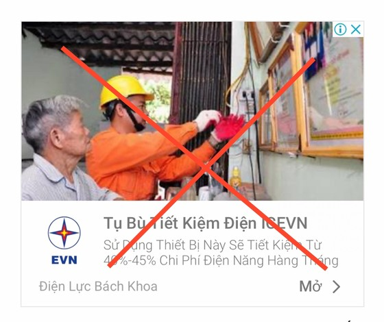 """Sử dụng logo """"EVN"""" để bán """"thiết bị tiết kiệm điện"""" ảnh 2"""