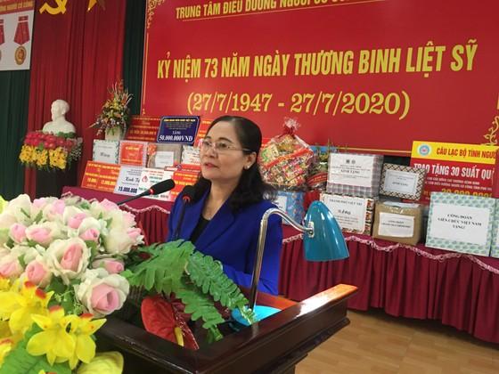 Chủ tịch HĐND TPHCM Nguyễn Thị Lệ thăm các thương binh nặng ở Phú Thọ ảnh 4