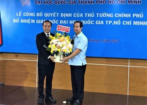 Trao quyết định bổ nhiệm ông Vũ Hải Quân làm Giám đốc Đại học Quốc gia TPHCM ảnh 4