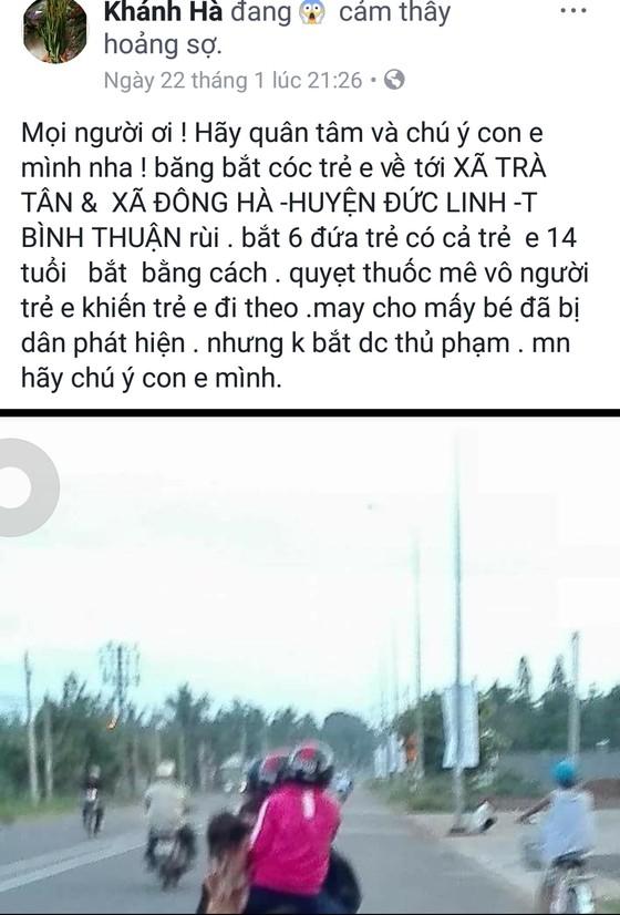 Không có chuyện 6 trẻ em ở Bình Thuận bị bắt cóc ảnh 1