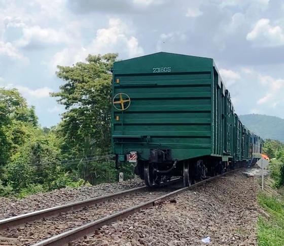 Khắc phục sự cố tàu hàng bị trật bánh khiến đường sắt Bắc - Nam bị ảnh hưởng nhiều giờ  ảnh 1