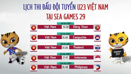 Công bố lịch thi đấu bóng đá SEA Games 2017