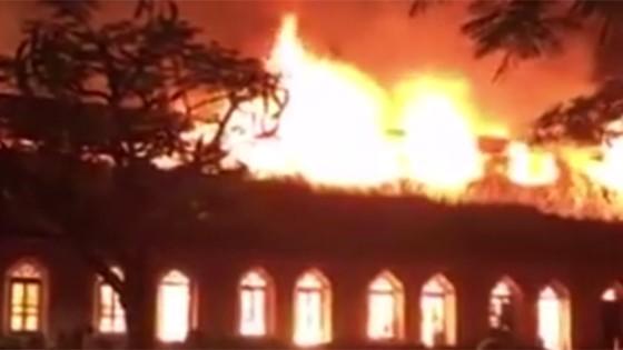 Nhà thờ Trung Lao ở Nam Định bị thiêu rụi trong đêm  ảnh 1