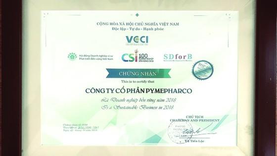 PYMEPHARCO lần thứ ba liên tiếp đạt tốp 100  Doanh nghiệp phát triển bền vững nhất Việt Nam ảnh 1