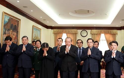 Lãnh đạo Đảng, Nhà nước và TPHCM viếng Đại tướng Sisavath Keobounphanh ảnh 1