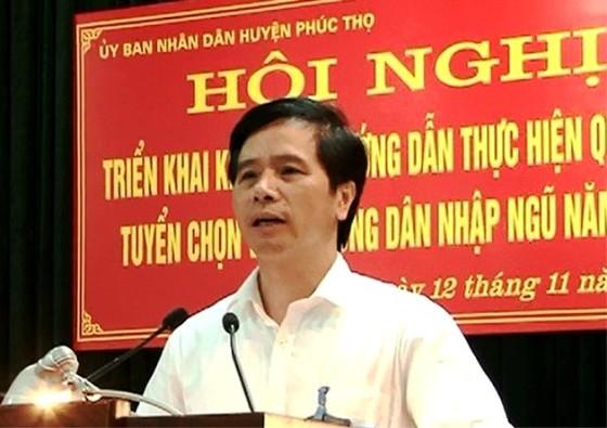Hà Nội cách chức bí thư, kỷ luật chủ tịch, phó chủ tịch huyện Phúc Thọ ảnh 1