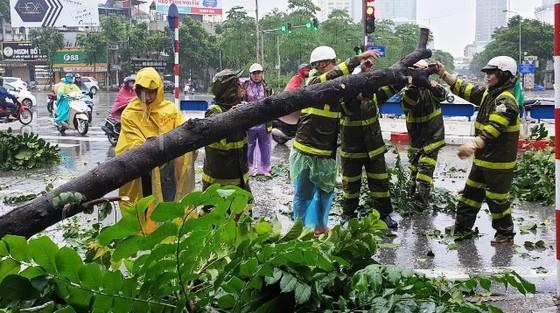 Hà Nội ngập lụt, cây đổ, sạt lở đê do ảnh hưởng bão số 3 ảnh 6