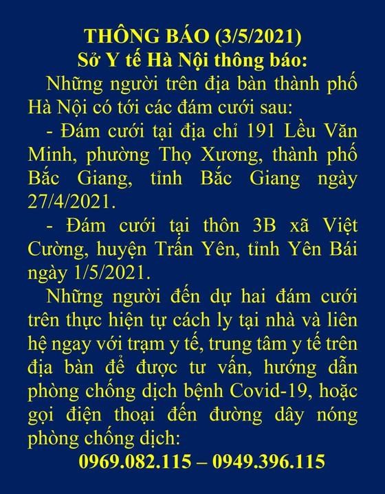 Hà Nội khẩn cấp tìm người tới dự 2 đám cưới ở Bắc Giang, Yên Bái có ca mắc và nghi mắc Covid-19 ảnh 1
