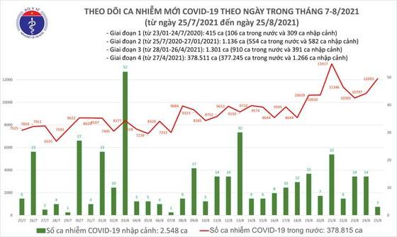 Ngày 25-8, cả nước thêm 12.096 ca mắc Covid-19 và 335 ca tử vong ảnh 2
