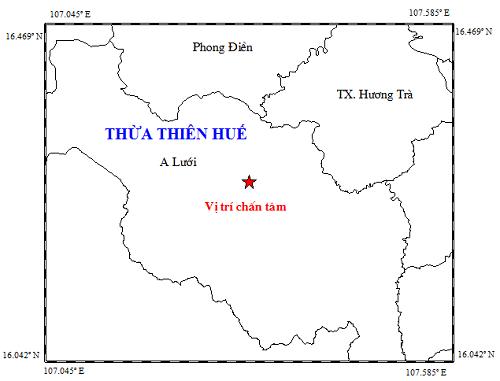 Lại xảy ra động đất 3,3 độ richter tại A Lưới ảnh 1