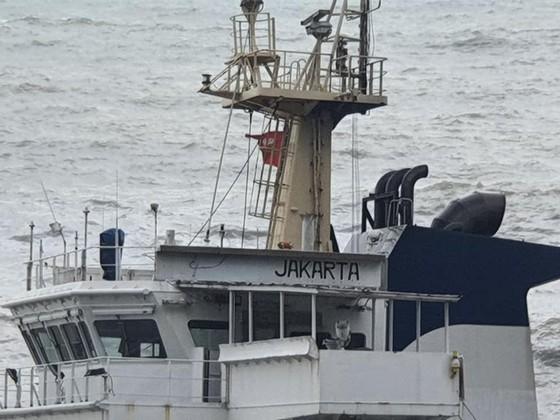 Nỗ lực tiếp cận tàu lạ trôi dạt tại vùng biển dưới chân núi Hải Vân ảnh 2