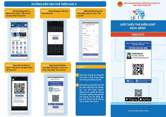 Thừa Thiên – Huế đã cấp thẻ kiểm soát dịch bệnh qua mã QR cho 93.233 công dân  ảnh 1
