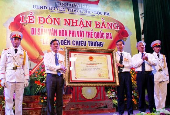 Đón bằng Di sản văn hóa phi vật thể Quốc gia Lễ hội đền Chiêu Trưng ảnh 1