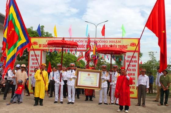 Đón bằng Di sản văn hóa phi vật thể Quốc gia Lễ hội đền Chiêu Trưng ảnh 2