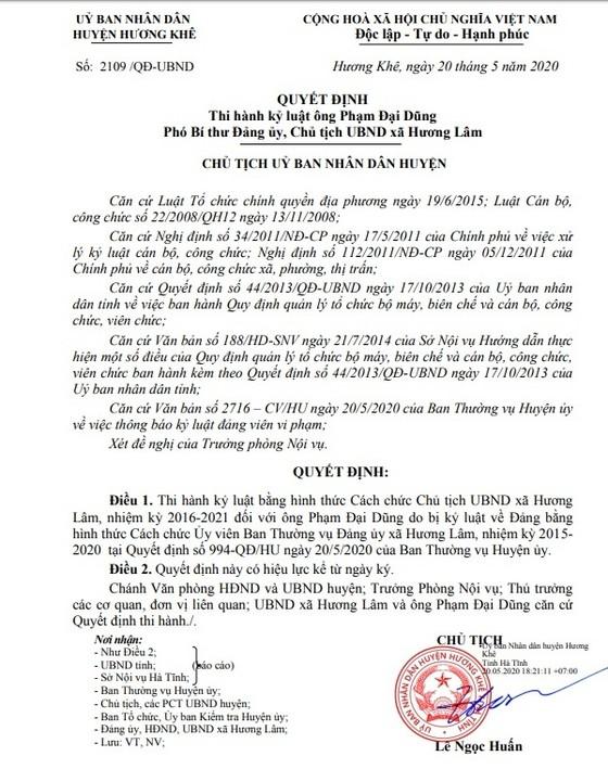 Hà Tĩnh: Cách chức một Chủ tịch UBND xã vì đánh bài ảnh 1