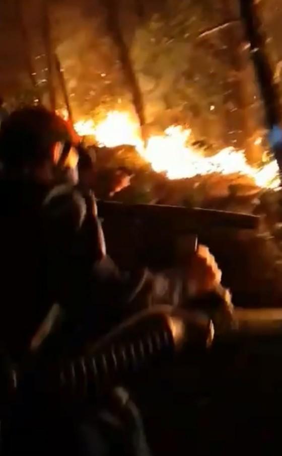 Dập tắt một vụ cháy rừng trong đêm ở Hà Tĩnh ảnh 3