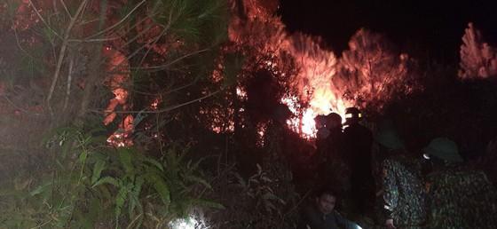 Vừa được khống chế, lửa bùng phát trở lại trên dãy núi ở Hà Tĩnh ảnh 9