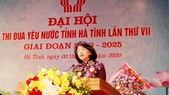 Phó Chủ tịch nước Đặng Thị Ngọc Thịnh dự Đại hội Thi đua yêu nước tỉnh Hà Tĩnh  ảnh 1