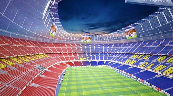 Barca đang tìm đối tác bán lại tên sân Camp Nou. Ảnh: Getty Images