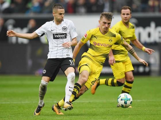Maximilian Philipp (phải), một trong ba mũi tấn công chủ lực của Dortmund. Ảnh: Getty Images