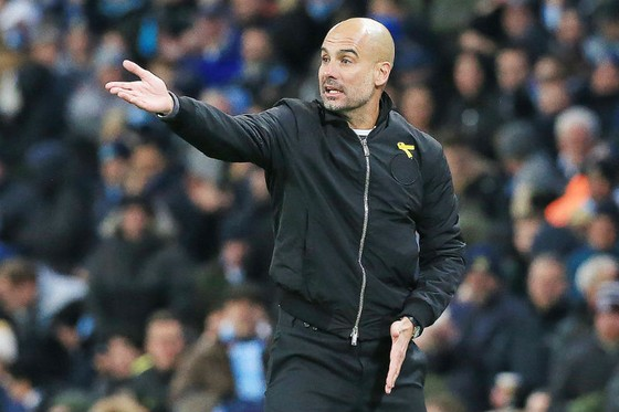 HLV Pep Guardiola vẫn thận trọng khi bàn về cơ hội vô địch. Ảnh: Getty Images