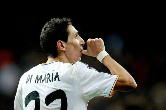 Di Maria lúc còn thi đấu cho Real. Ảnh Getty Images.