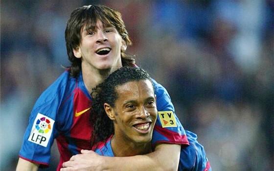 Với Pep, trước Messi chỉ có Ronaldinho xuất sắc nhất. Ảnh: Getty Images.