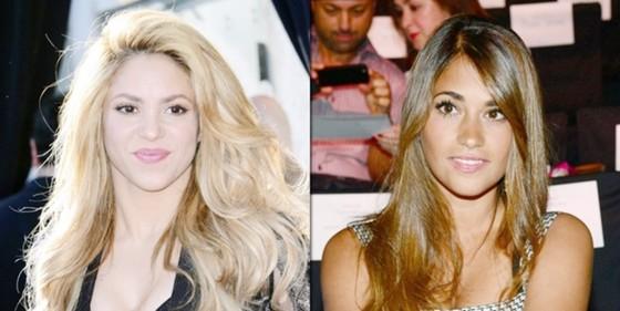 Mối quan hệ giữa Roccuzzo (phải) và Shakira đã bớt căng thẳng.
