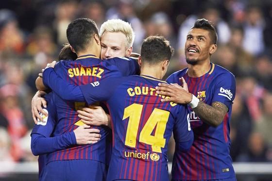 Barca đã có chiến thắng trước Valencia để đặt chân vào chung kết Cúp nhà vua mùa này. Ảnh: Getty Images