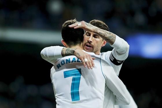 Ronaldo lập hat-trick, Ramos gửi lời đe dọa đến PSG. Ảnh: Getty Images