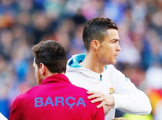 """Messi chưa """"khỏe"""" với Ronaldo trong cuộc đua Pichichi. Ảnh: Getty Images."""