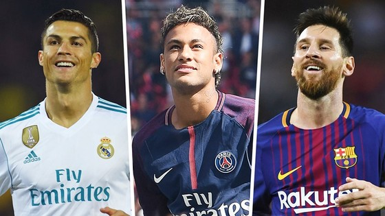 Neymar rất khó giành QBV khi còn Messi và Ronaldo. Ảnh Goal.