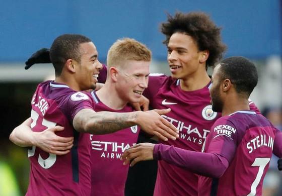 Các ngôi sao của Man.City đã có bước chạy đà hoàn hảo trước thềm trận đối đầu Liverpool. Ảnh: Getty Images