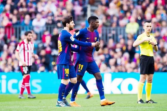 Messi có thực sự yêu cầu Barca bán Dembele? Ảnh: Getty Images