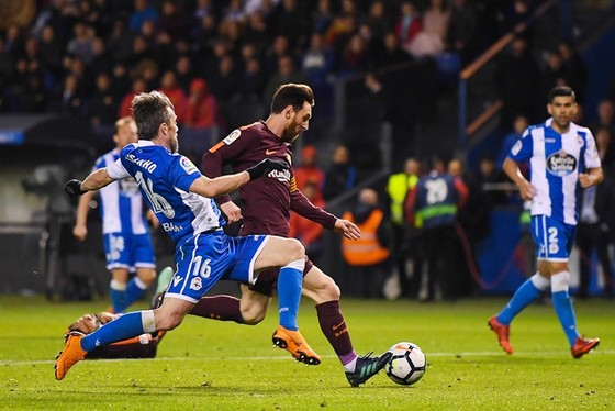 Messi đưa Barca vô địch lần thứ 7 trong vòng 10 năm. Ảnh: Getty Images