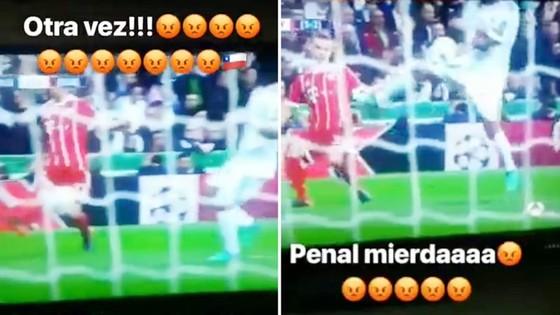 Vidal đăng những lời xúc phạm dành cho cầu thủ Real. Ảnh Marca.