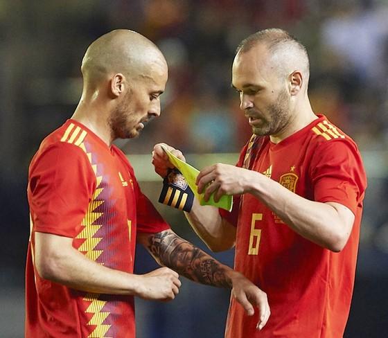 """Silva và Iniesta đóng vai trò """"bộ não"""" của Tây Ban Nha ở World Cup lần này. Ảnh: Getty Images"""