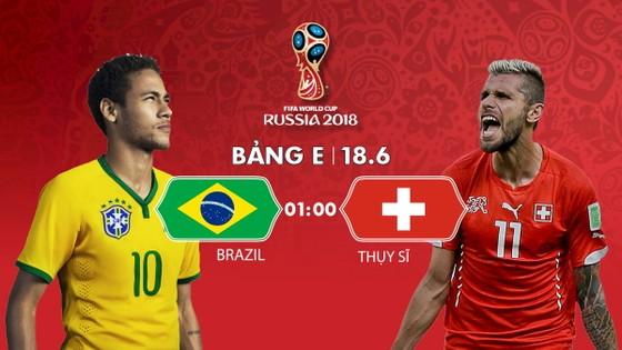Brazil sẽ đụng độ Thụy Sĩ vào rạng sáng ngày 18-6. Infographic: HỮU VI