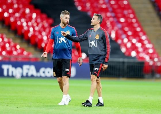 Ramos bác bỏ mối quan hệ không đẹp với Enrique. Ảnh Getty Images.
