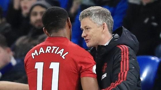 HLV Ole Gunnar Solskjaer tin rằng Anthony Martial là tương lai của Man.United. Ảnh: Getty Images