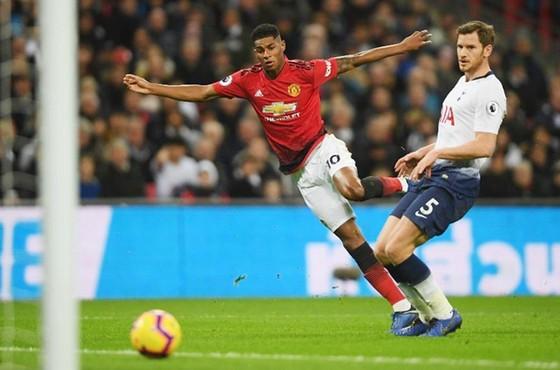 Tiền đạo Marcus Rashford ghi bàn thắng duy nhất của trận đấu. Ảnh: Getty Images