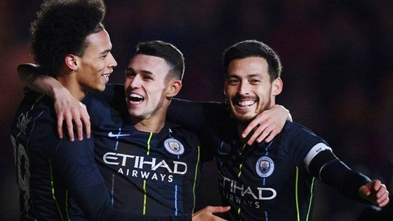 Phil Foden (giữa) tỏa sáng cũng cho thấy chiều sâu tuyệt vời của đội hình Man.City. Ảnh: Getty Images